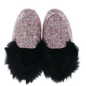 Victoria's Secret Slippers Moccasin Pink Glitter